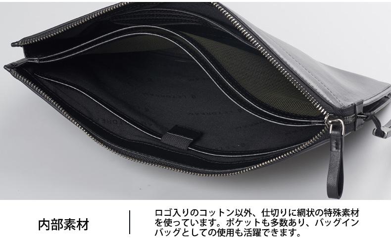 内部素材 ロゴ入りのコットン以外、仕切りに網状の特殊素材を使っています。ポケットも多数あり、バッグinバッグとしての使用も活躍できます。