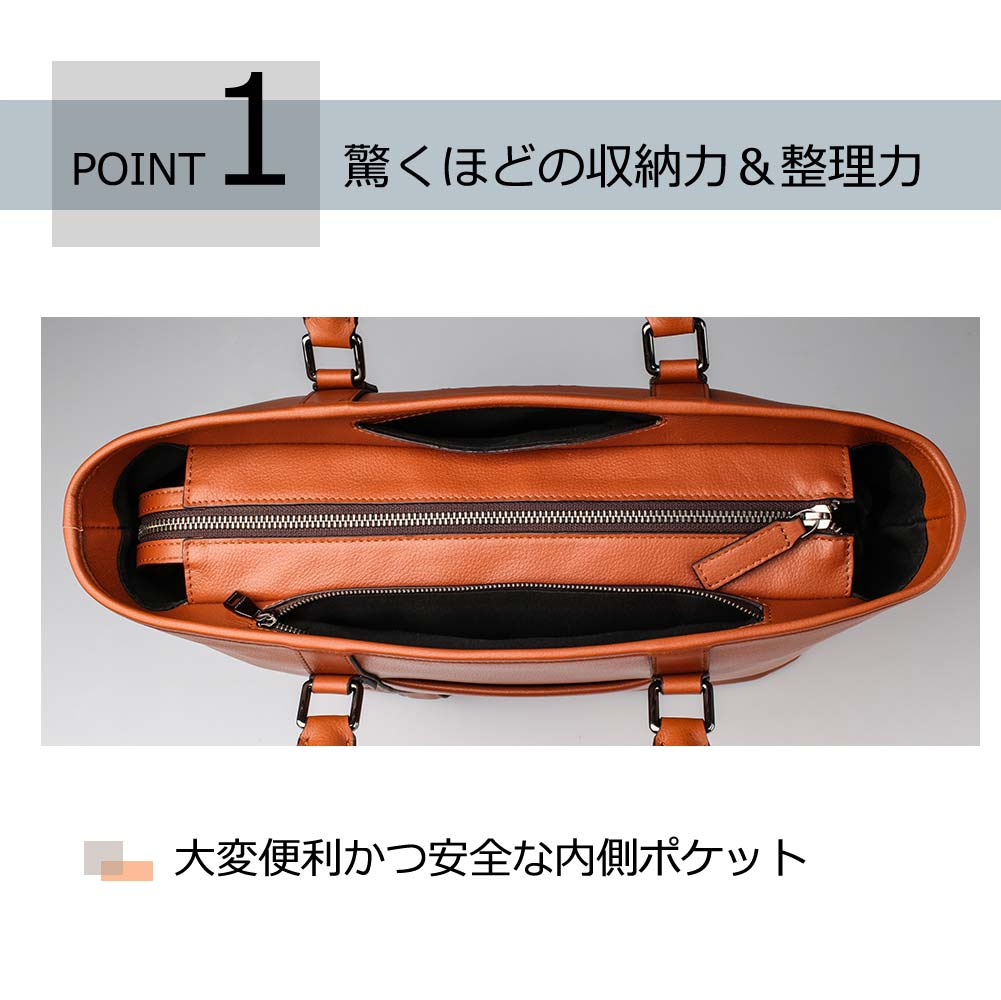 POINT1 驚くほどの収納力&整理力 大変便利かつ安全な内側ポケット
